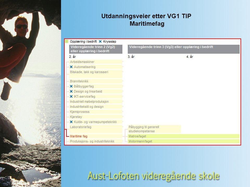 Utdanningsveier etter VG1 TIP Maritimefag
