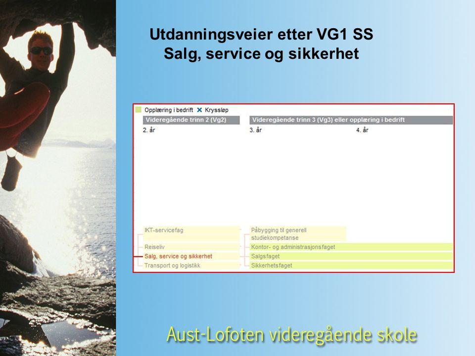 Utdanningsveier etter VG1 SS Salg, service og sikkerhet