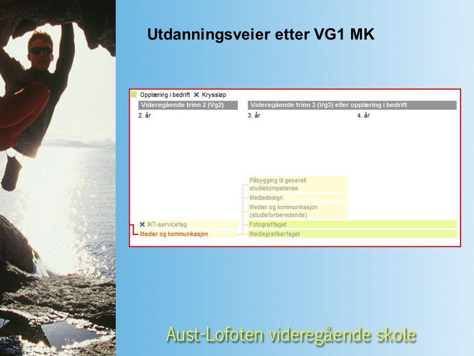 Utdanningsveier etter VG1 MK