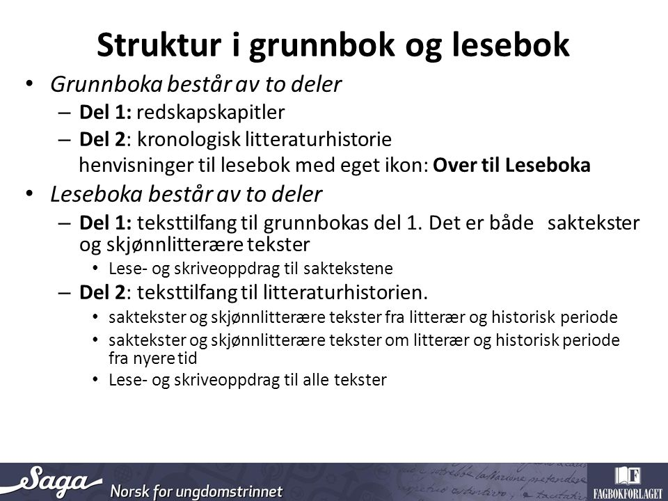 Over til Leseboka 8.trinn Del 1: Kap.