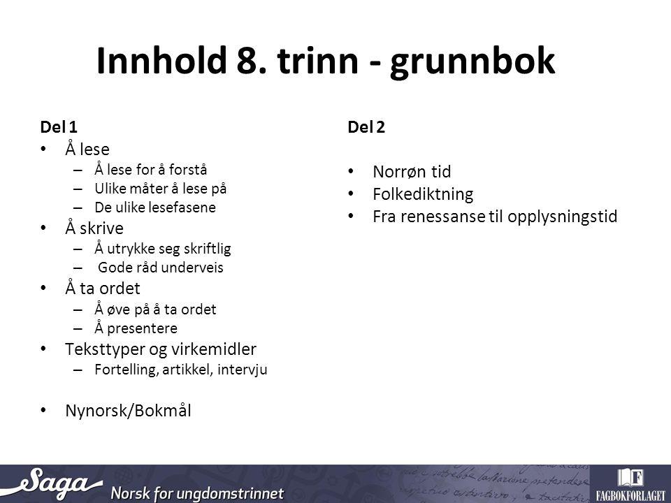 Innhold 8.