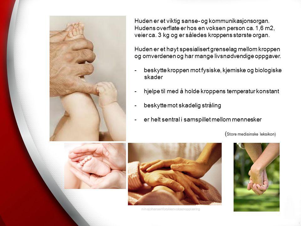 ninajohansenforskienvoksenopplæring Huden er et viktig sanse- og kommunikasjonsorgan.