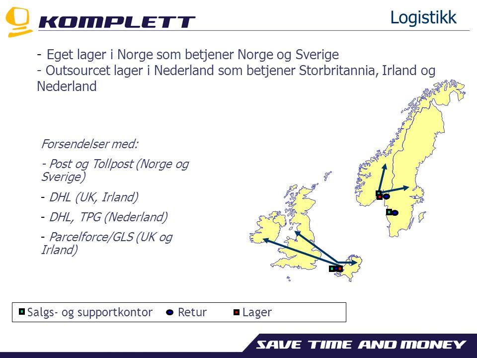 Salgskanaler Forhandlersalg Norek.no, Komplett.se Direktesalg Komplett.no, Komplett.se, Komplett.co.uk, Komplett.ie og Komplett.nl