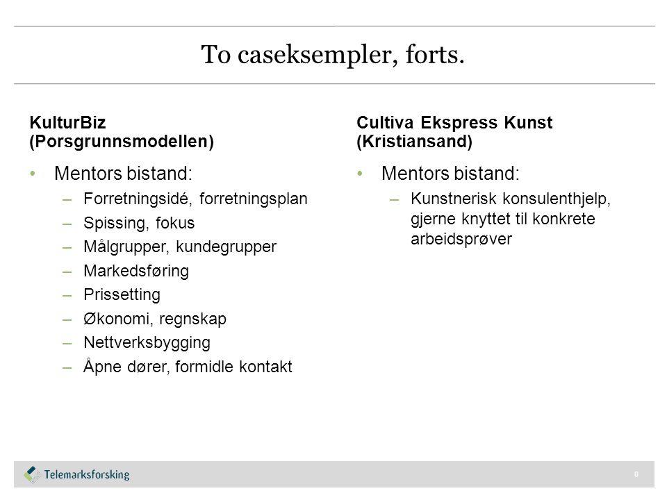 To caseksempler, forts.