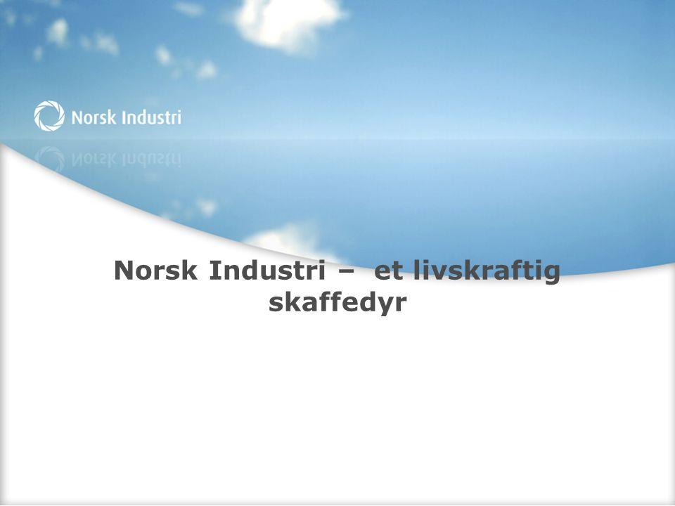 Norsk Industri – et livskraftig skaffedyr