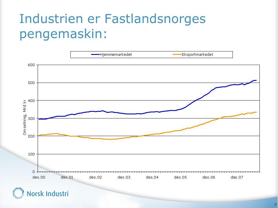 6 Industrien er Fastlandsnorges pengemaskin: