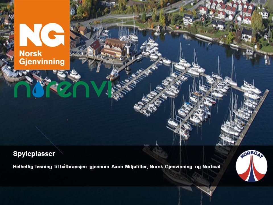 Spyleplasser Helhetlig løsning til båtbransjen gjennom Axon Miljøfilter, Norsk Gjenvinning og Norboat