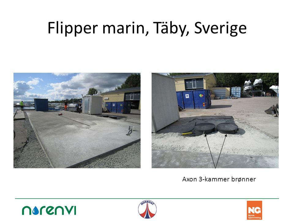 Flipper marin, Täby, Sverige Axon 3-kammer brønner