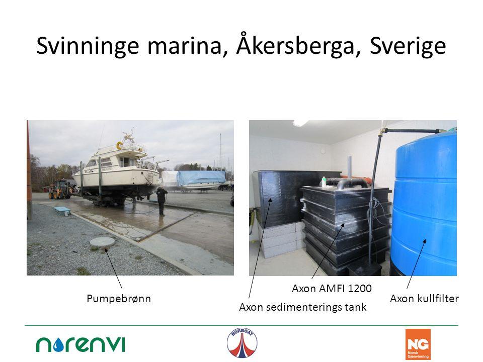 Svinninge marina, Åkersberga, Sverige Axon AMFI 1200 Axon sedimenterings tank Axon kullfilterPumpebrønn