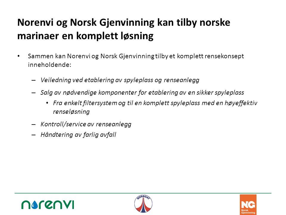 Norenvi og Norsk Gjenvinning kan tilby norske marinaer en komplett løsning Sammen kan Norenvi og Norsk Gjenvinning tilby et komplett rensekonsept inne
