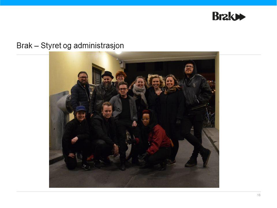 Brak – Styret og administrasjon 16
