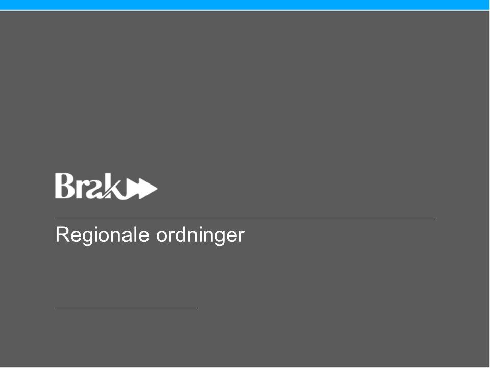 Regionale ordninger