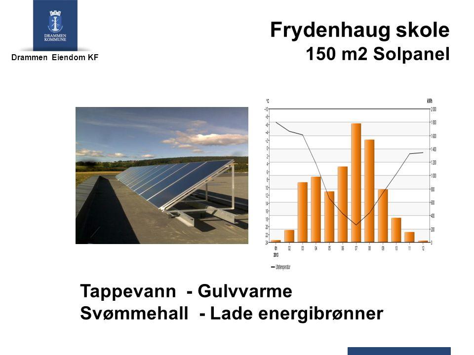 Drammen Eiendom KF Frydenhaug skole 150 m2 Solpanel Tappevann - Gulvvarme Svømmehall - Lade energibrønner