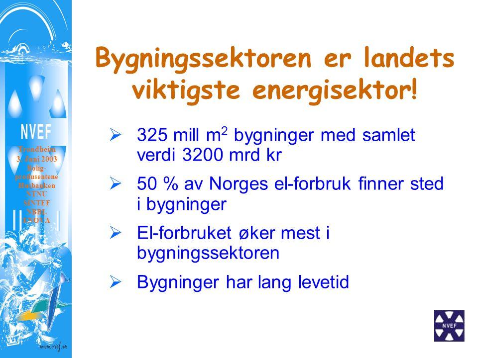 Bygningssektoren er landets viktigste energisektor.