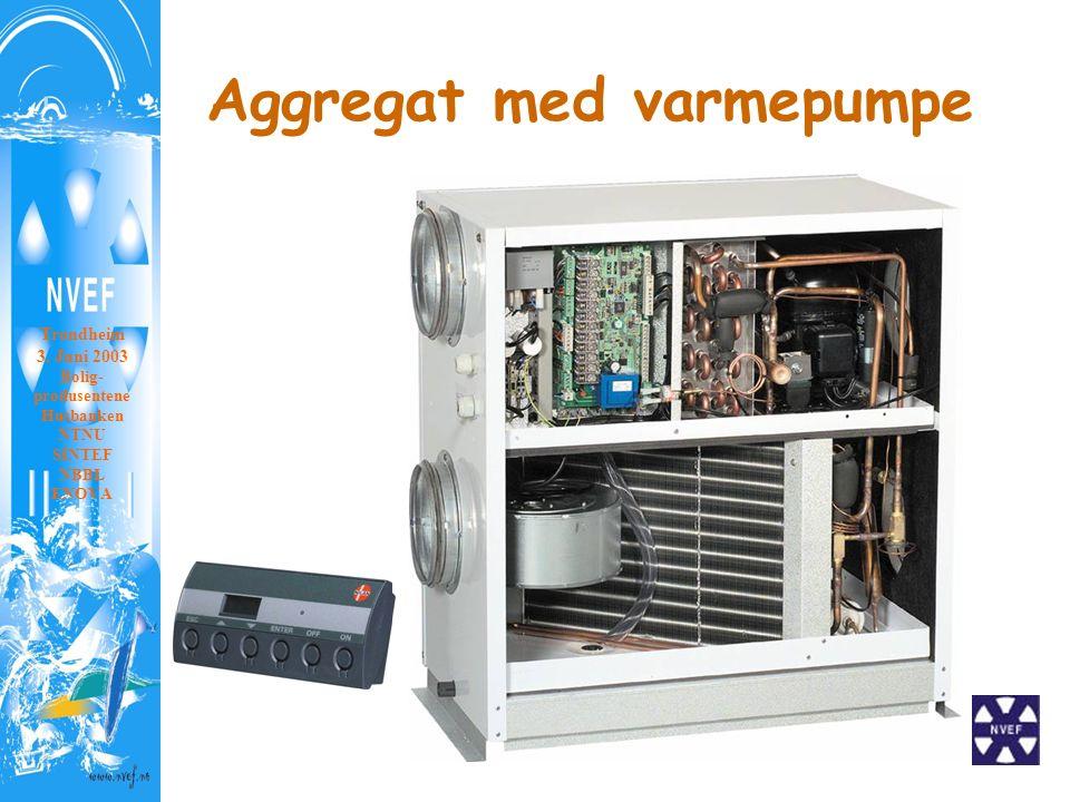 Aggregat med varmepumpe Trondheim 3. Juni 2003 Bolig- produsentene Husbanken NTNU SINTEF NBBL ENOVA