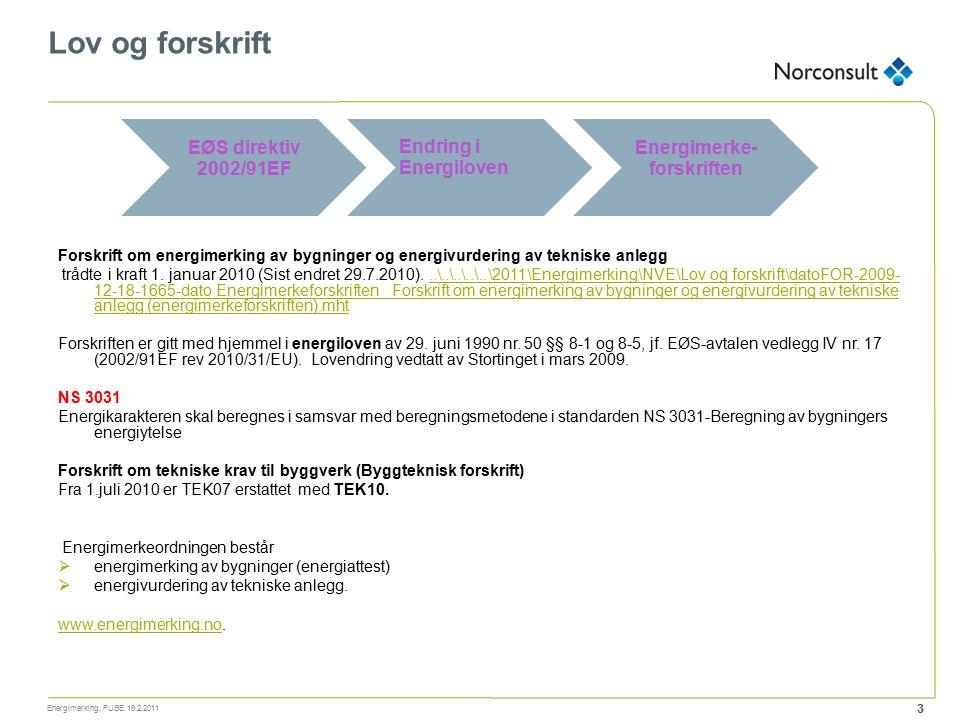 Forskrift om energimerking av bygninger og energivurdering av tekniske anlegg trådte i kraft 1. januar 2010 (Sist endret 29.7.2010)...\..\..\..\..\201