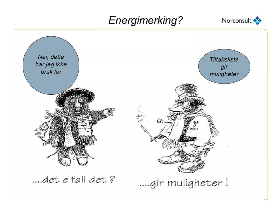 post@proteknologi.no Energimerking? Tiltaksliste gir muligheter Nei, dette har jeg ikke bruk for