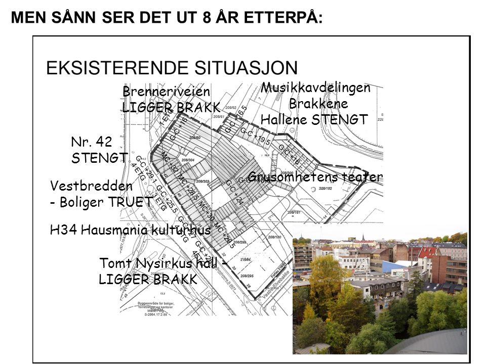 Musikkavdelingen Brakkene Hallene STENGT Nr.