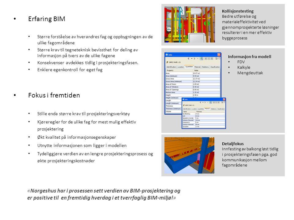 Detaljfokus Innfesting av balkong løst tidlig i prosjekteringsfasen pga. god kommunikasjon mellom fagområdene Kollisjonstesting Bedre utførelse og mat