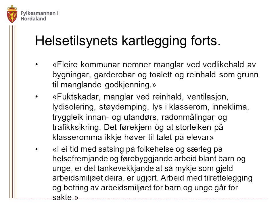 Helsetilsynets kartlegging forts.