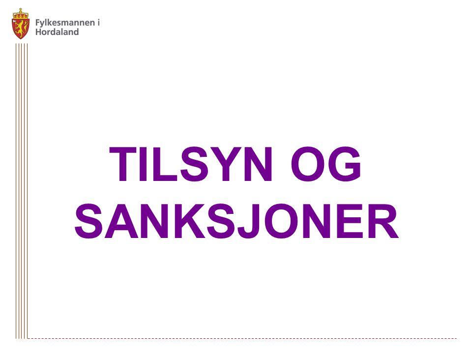 TILSYN OG SANKSJONER
