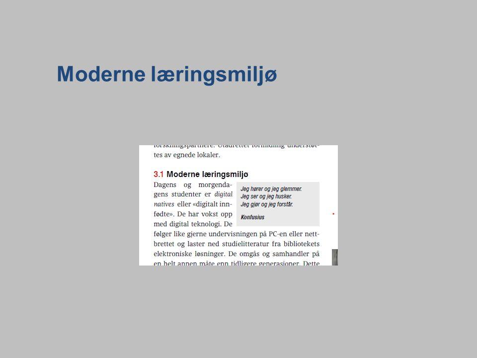 Moderne læringsmiljø