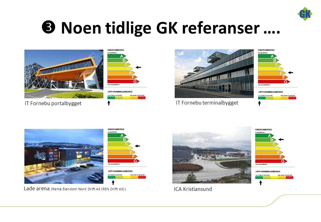 IT Fornebu portalbygget IT Fornebu terminalbygget Lade arena (Rema Eiendom Nord Drift AS (REN Drift AS) )  Noen tidlige GK referanser ….
