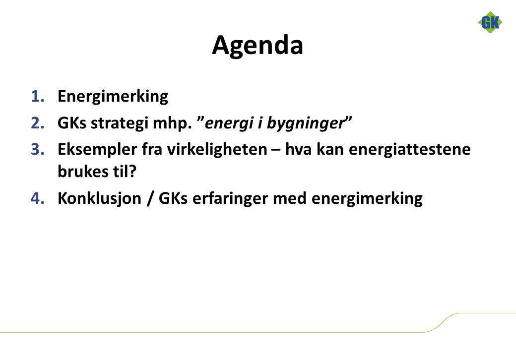 Agenda 1.Energimerking 2.GKs strategi mhp.