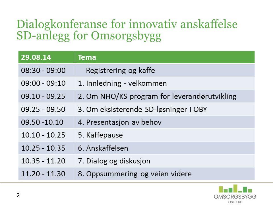 Velkommen ved eiendomsdirektør Torge Railo Presentasjon av OBY 1. Innledning 3