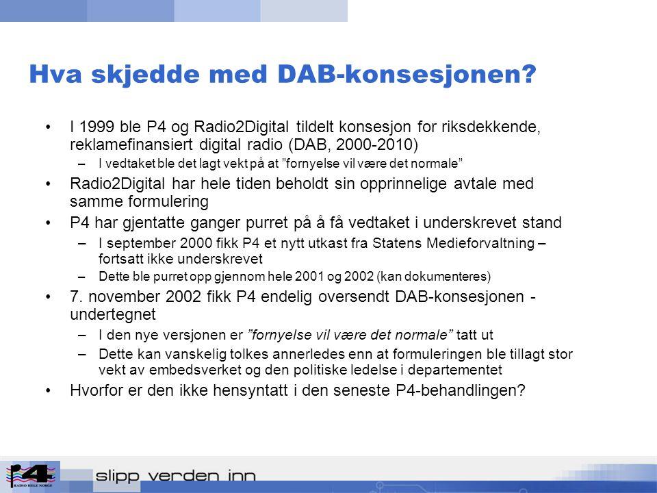 Hva skjedde med DAB-konsesjonen.