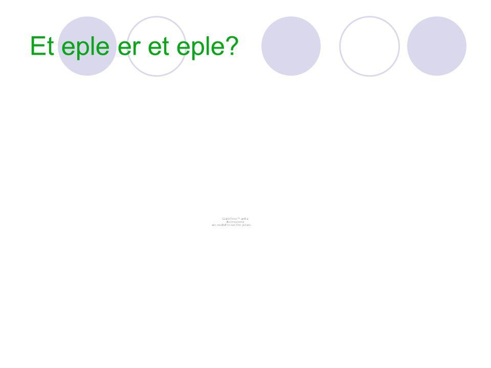 Et eple er et eple?