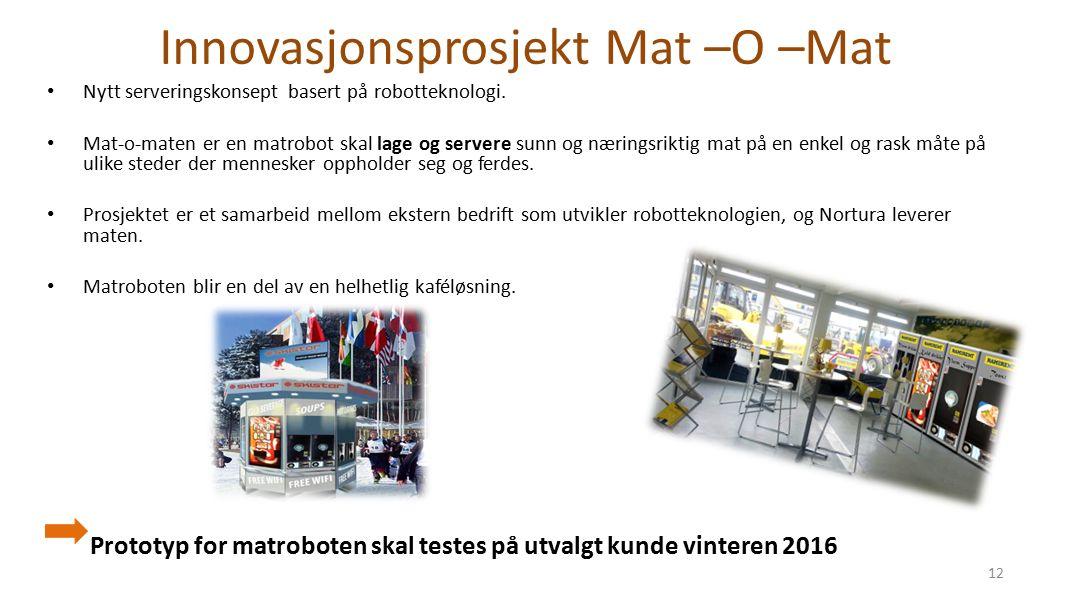 Innovasjonsprosjekt Mat –O –Mat Nytt serveringskonsept basert på robotteknologi.