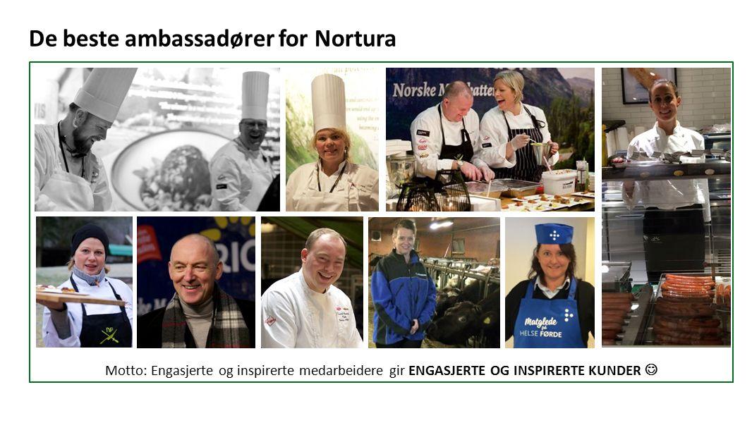 Motto: Engasjerte og inspirerte medarbeidere gir ENGASJERTE OG INSPIRERTE KUNDER De beste ambassadører for Nortura