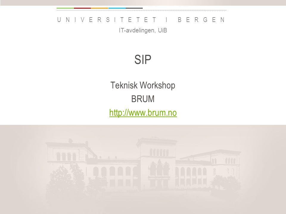 uib.no BRUM og Mitel BRUM er brukergruppen for Mitels kommunikasjonssystemer i Norge http://www.brum.no - du finner oss også på Facebook, som LinkedIn-gruppe og på Twitter som @brum_nohttp://www.brum.no Har avtale om at medlemmer kan få tilgang til CPI- dokumentasjon Årlig seminar, neste gang 6-7 april 2016 i Stavanger Prøver med tekniske dypdykk 1-2 ganger i året som et eksperiment IT-avdelingen, UiB