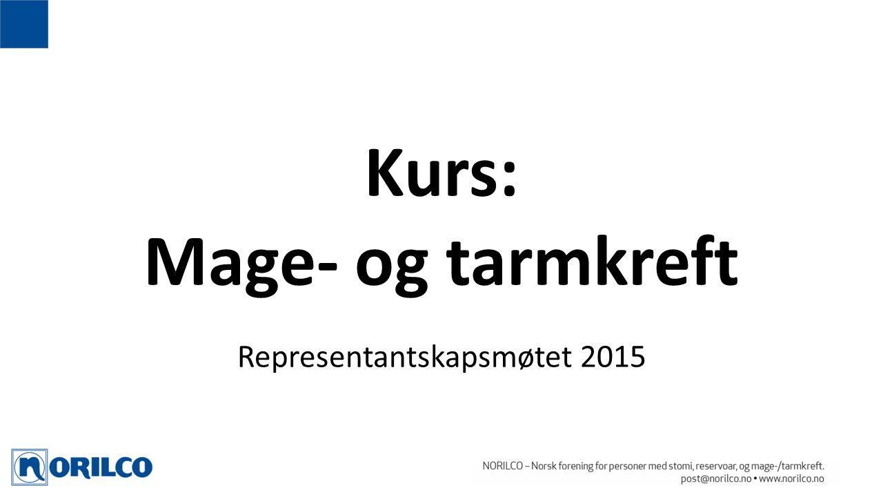 Kurs: Mage- og tarmkreft Representantskapsmøtet 2015