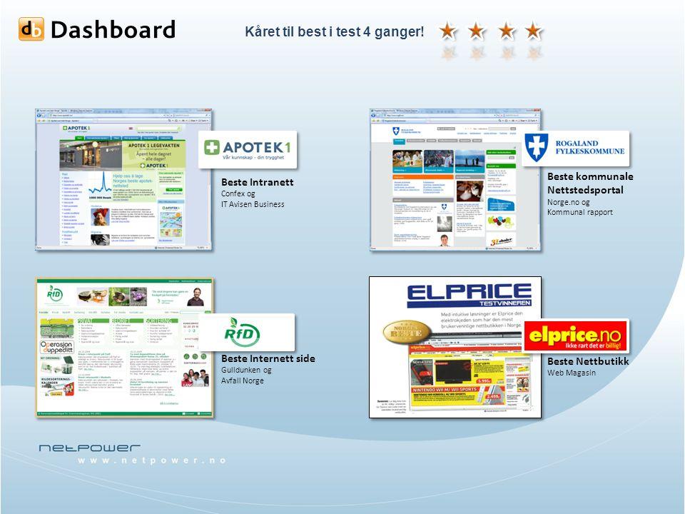 Beste Intranett Confex og IT Avisen Business Beste Internett side Gulldunken og Avfall Norge Beste kommunale Nettstedsportal Norge.no og Kommunal rapp