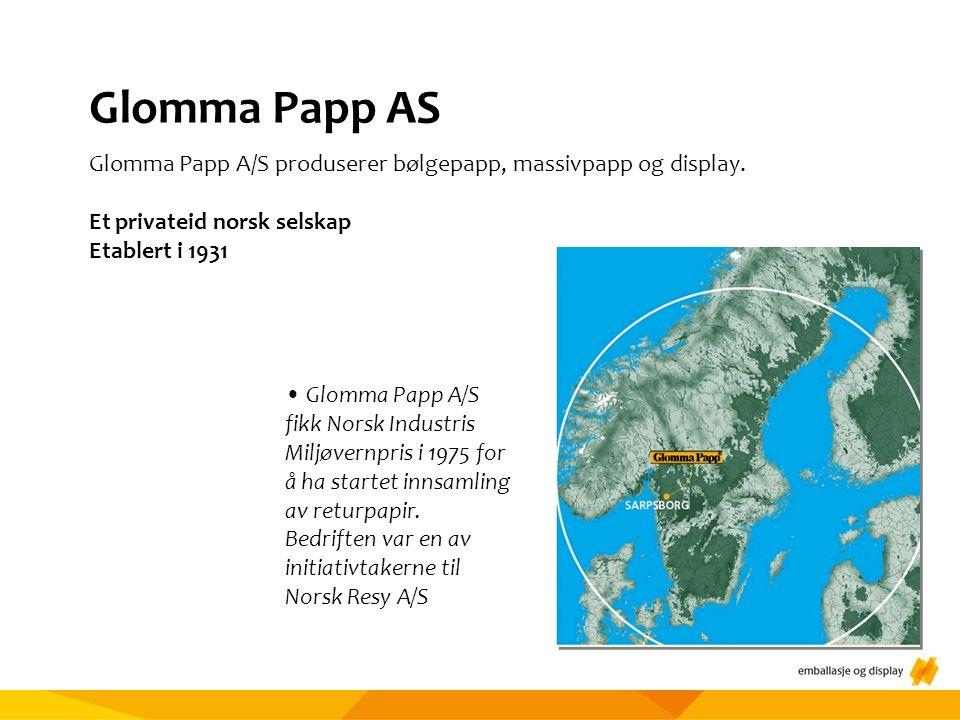 Glomma Papp AS Glomma Papp A/S produserer bølgepapp, massivpapp og display.