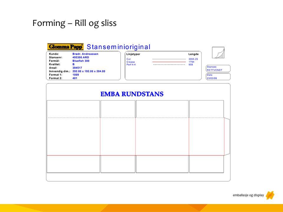 Materialtesting Forming – Rill og sliss