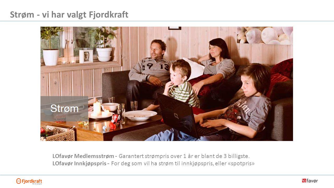 LOfavør Medlemsstrøm - Garantert strømpris over 1 år er blant de 3 billigste.
