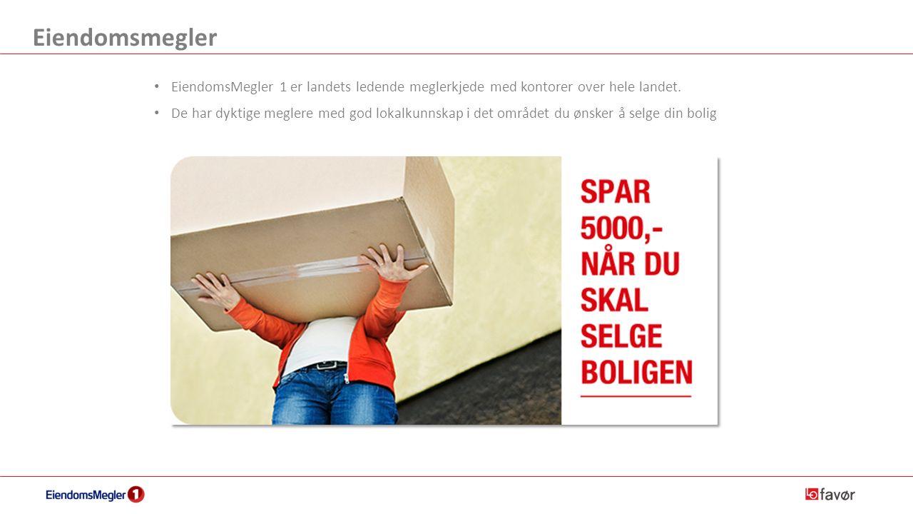 Eiendomsmegler EiendomsMegler 1 er landets ledende meglerkjede med kontorer over hele landet.