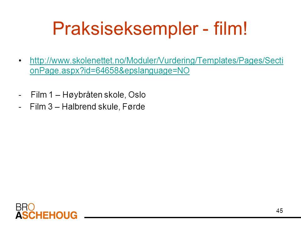 45 Praksiseksempler - film.