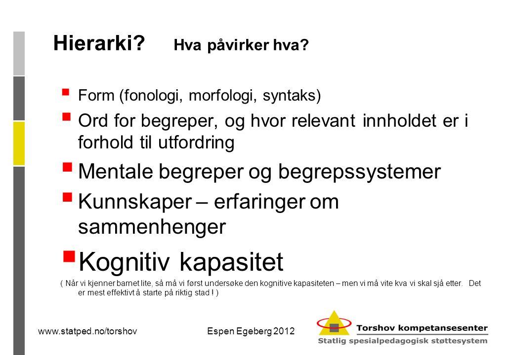 Espen Egeberg 2012 Hierarki. Hva påvirker hva.