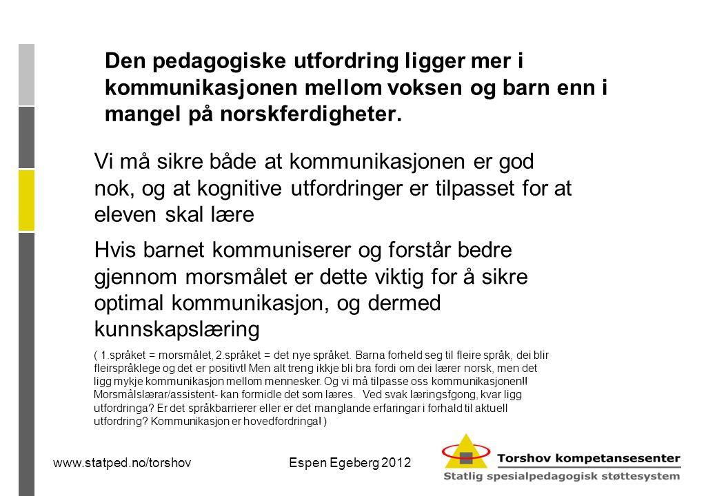 Flerspråklig pedagogikk- to hovedretninger:  Flerspråklig opplæring  Læring gjennom andrespråket ..
