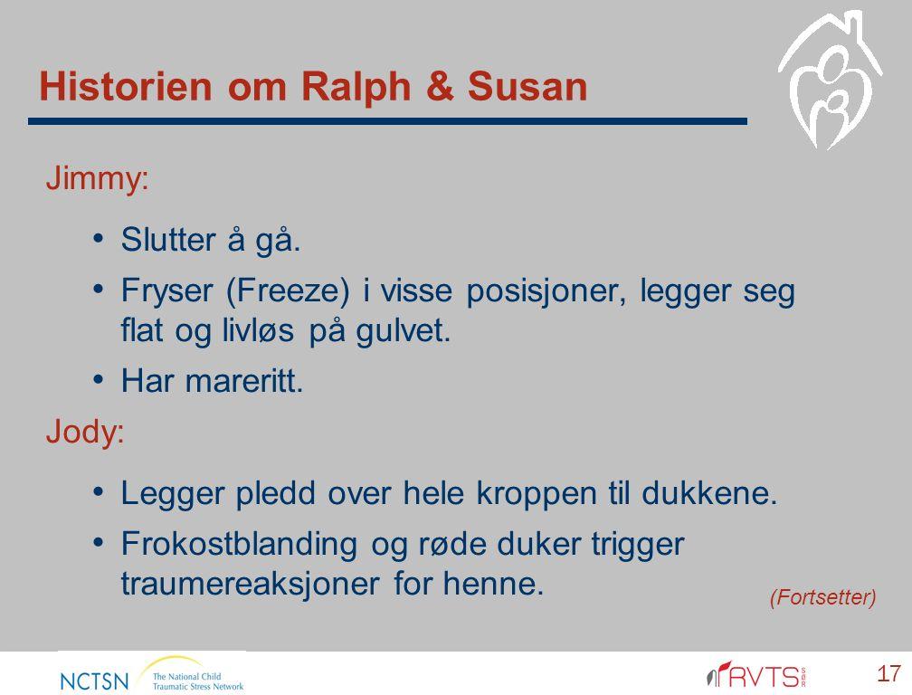 Historien om Ralph & Susan Jimmy: Slutter å gå. Fryser (Freeze) i visse posisjoner, legger seg flat og livløs på gulvet. Har mareritt. Jody: Legger pl