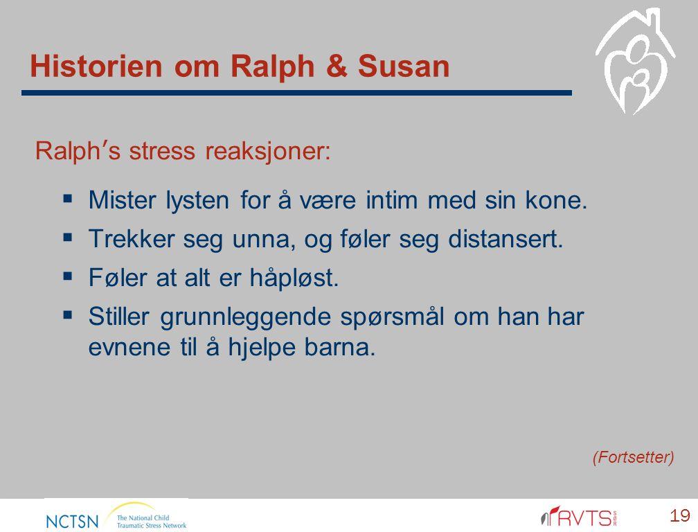 Historien om Ralph & Susan Ralph's stress reaksjoner:  Mister lysten for å være intim med sin kone.  Trekker seg unna, og føler seg distansert.  Fø