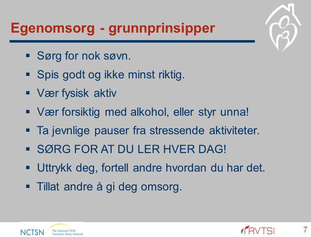 Egenomsorg - grunnprinsipper 7  Sørg for nok søvn.