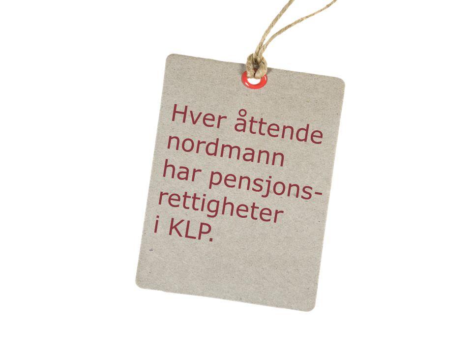 Hver åttende nordmann har pensjons- rettigheter i KLP.