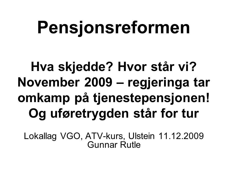 Pensjonsreformen er ikke et norsk påfunn.