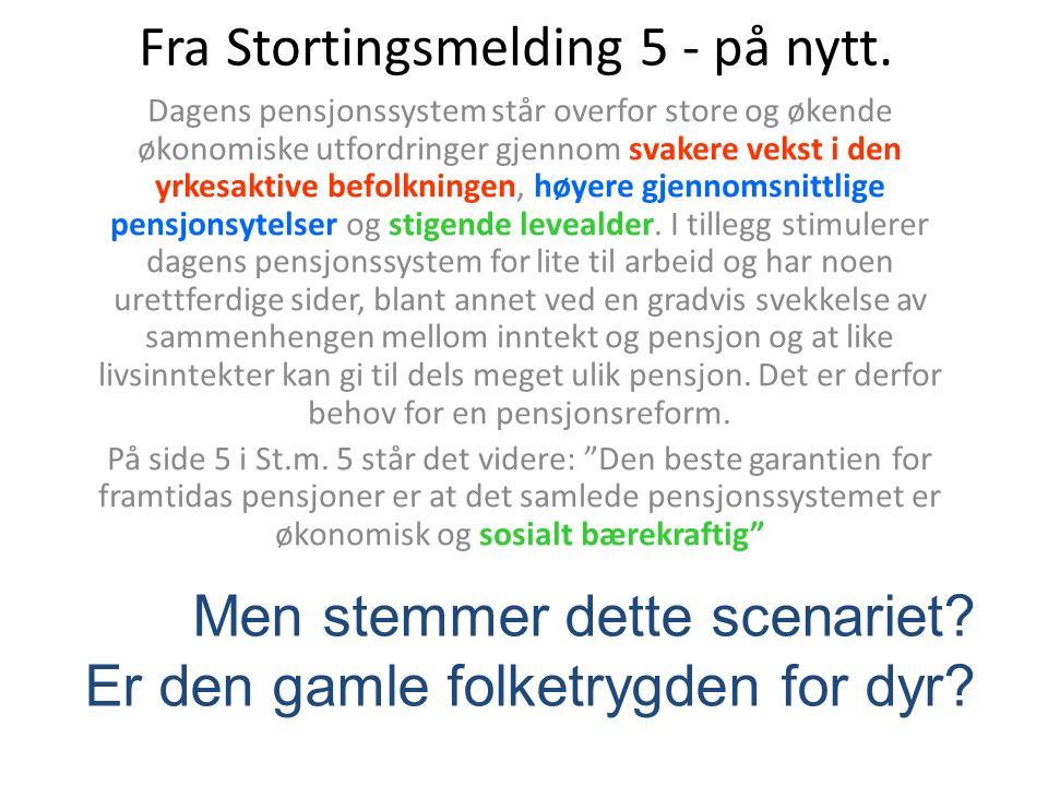 Fra Stortingsmelding 5 - på nytt.