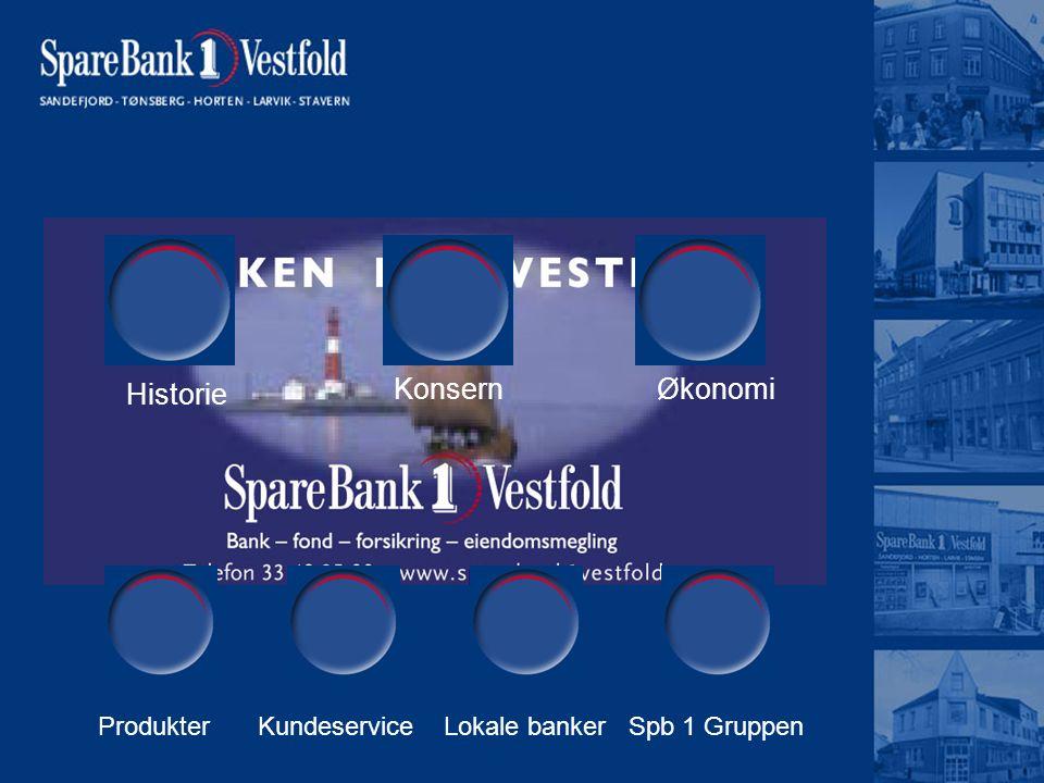 Historie KonsernØkonomi ProdukterLokale bankerSpb 1 GruppenKundeservice